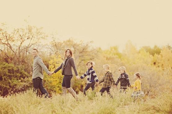 Photo de famille à la queue leu leu