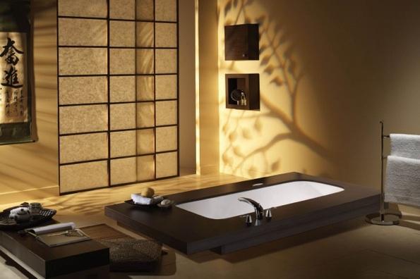 Des id233es de d233coration pour la salle de bain Des id233es : ambiance japonaise from www.des-idees.com size 595 x 396 jpeg 165kB