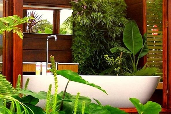 Des id es de d coration pour la salle de bain des id es - Salle de bain tropicale ...