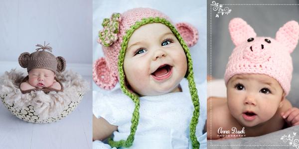 Bonnet de bébé en crochet