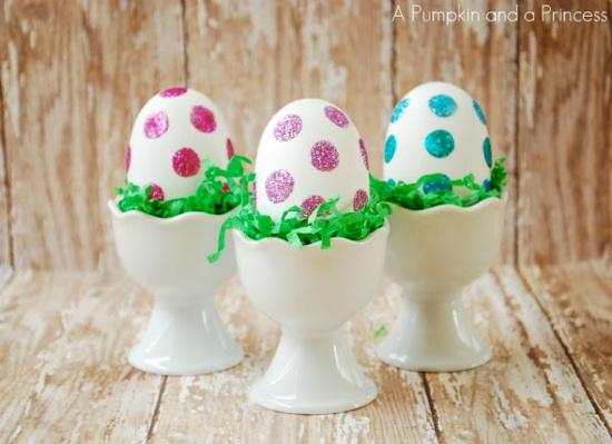 Oeufs de Pâques Paillettes