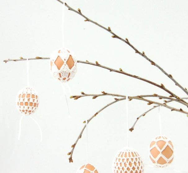 Oeufs de Pâques au crochet