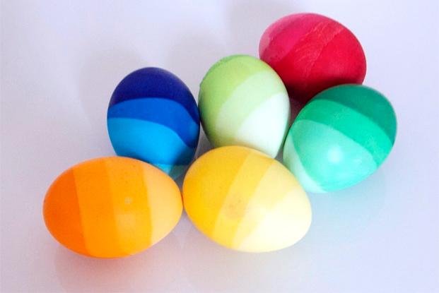 Oeufs de Pâques en dégradé