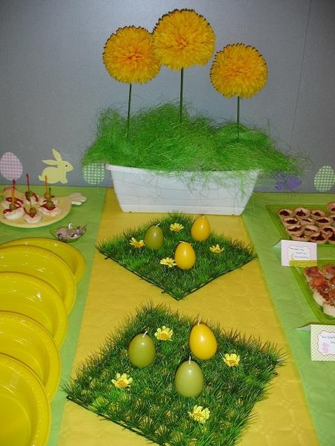 Pâques jaune et vert