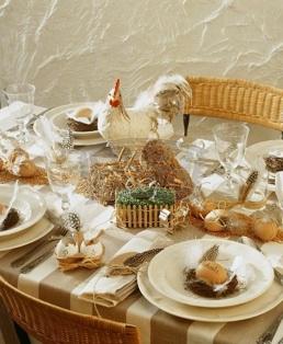Table de Pâques fermière