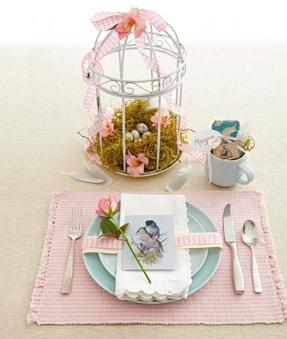 Table Pâques romantique