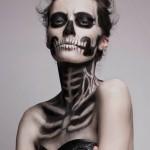 Maquillage squelette, un basique